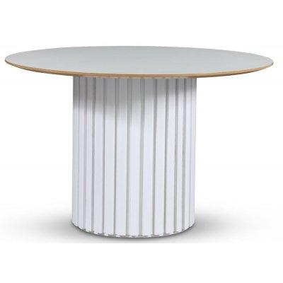 Empire spisebord - Perstorp lys laminat 118 cm / Hvit lamell trefot