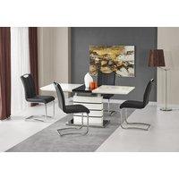Adine spisebord 140-180 cm - Hvit/sort