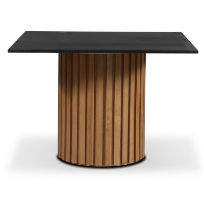 Sumo spisebord Ø105 cm - Oljet eik / Svart Granitt